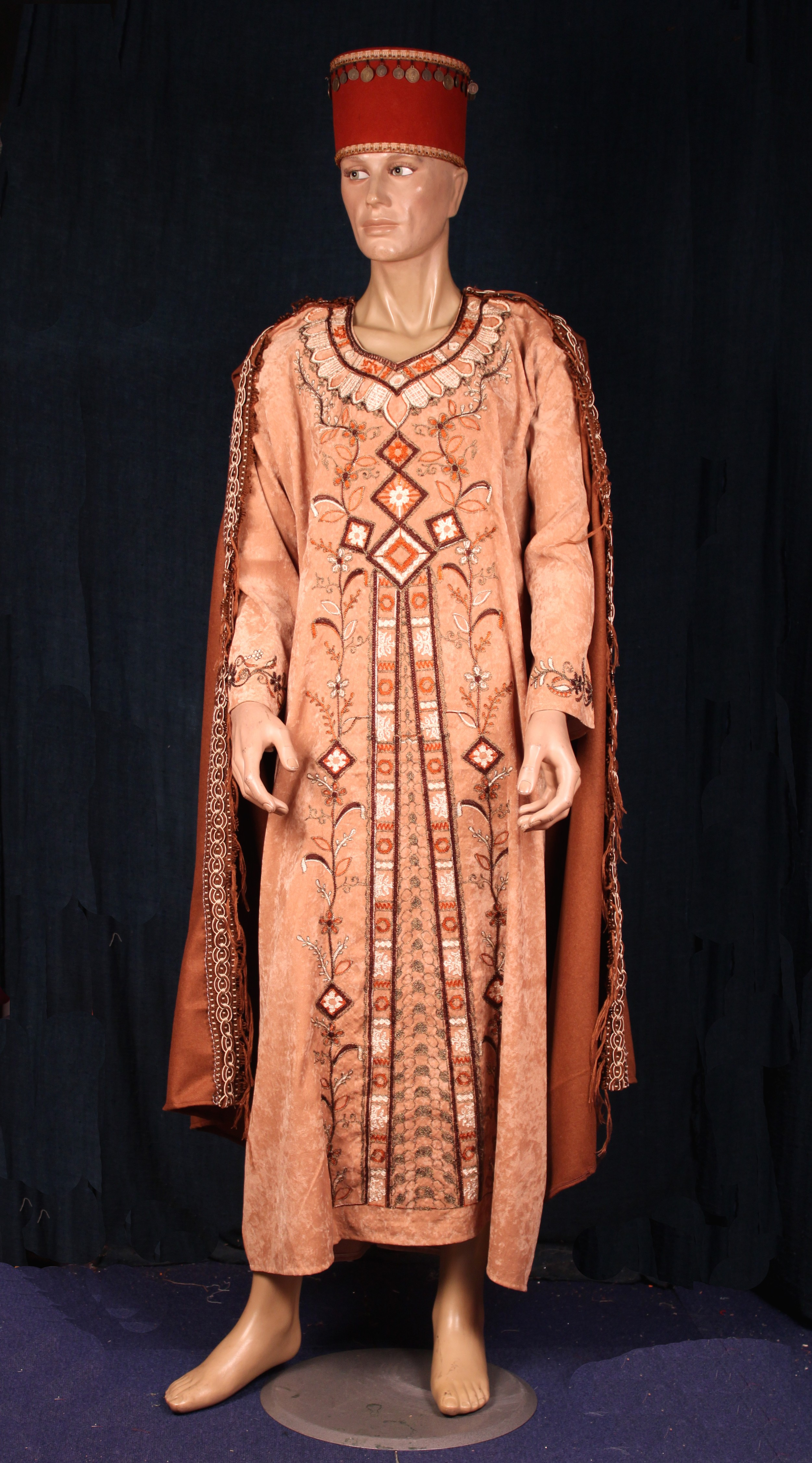 Perse homme marron caramel - La Malle Aux Costumes cf914fdbb3c