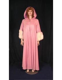 Manteau rose fourrure 1